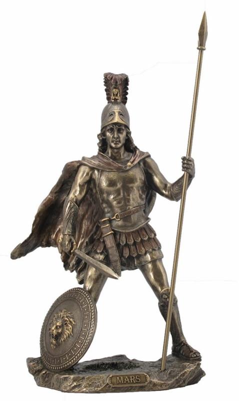 Der Kriegsgott Mars galt als Vater von Romulus und Remus, welche Rom gründeten.